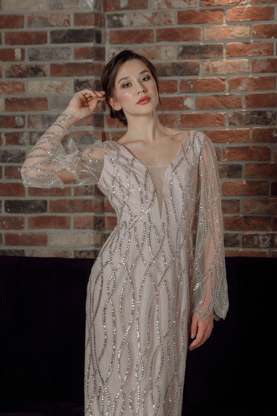 Rosy Glow Edith Val rochie seara