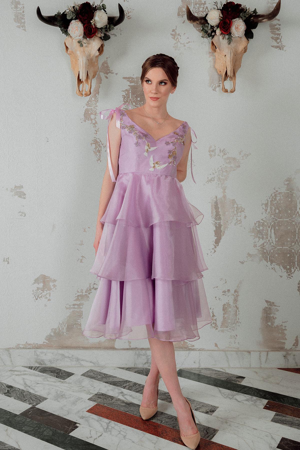 Lilac Spring Edith Val rochie seara